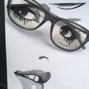 Unisex YSL 🕶 Prescription Glasses Frames
